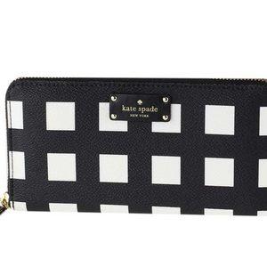 NWT kate spade checkered wallet